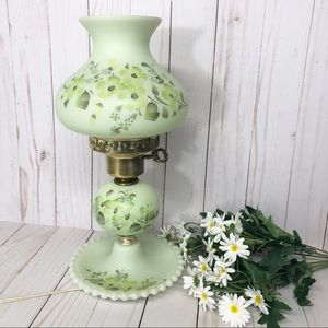 Vintage hand painted Shabby Chic Boudoir Lamp
